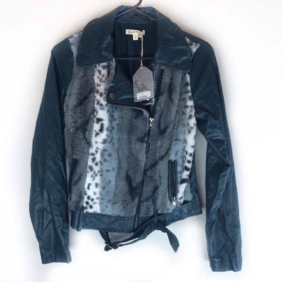 Hem & Thread Jackets & Blazers - Hem & Thread Faux Leather Bike jacket